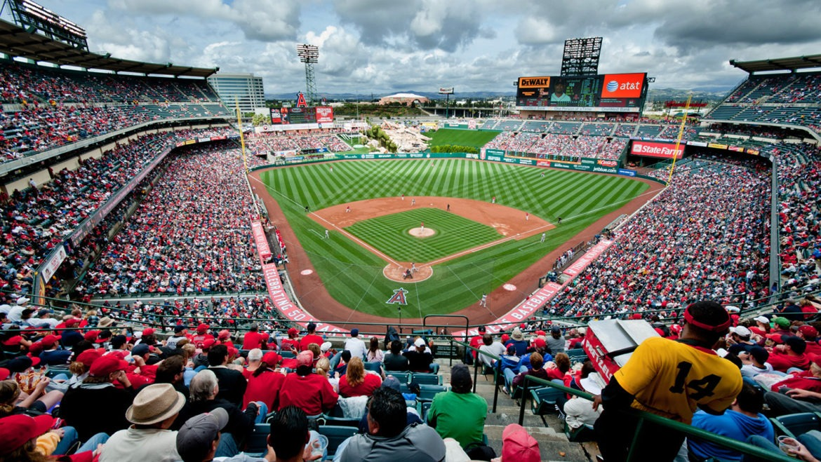 Photo of Angel Stadium in Anaheim, who's residents get the best tree care services.